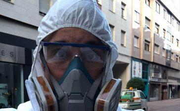 David Rodríguez del servicio de limpieza de Ponferrada: