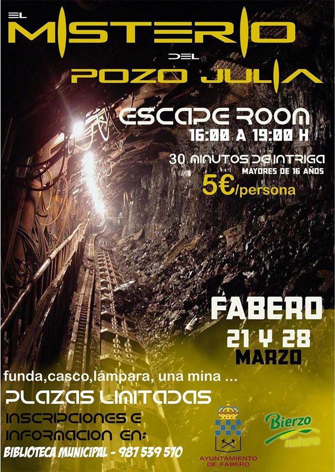 Fabero organiza una Escape Room bajo tierra en el Pozo Julia 1