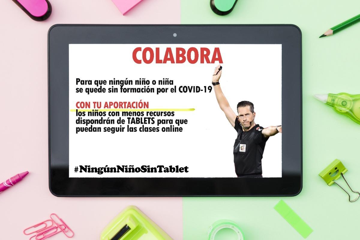 El árbitro berciano José Luis González González crea una colecta para que ningún niño se quede sin 'tablet' durante el confinamiento 1