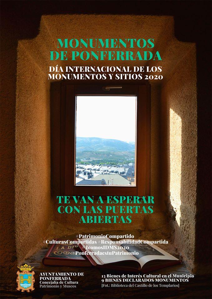 """Ponferrada celebra el """"Día Internacional de Monumentos y Sitios 2020"""