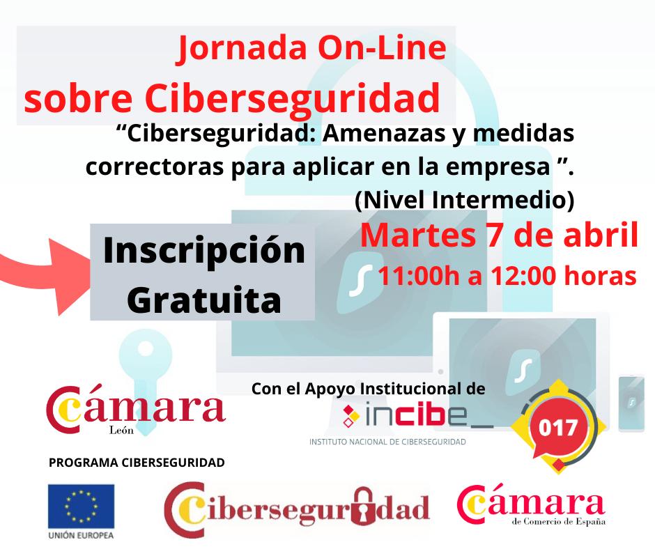 La Cámara de Comercio de León organiza una Jornada Online de Seguridad Nivel Avanzado 1