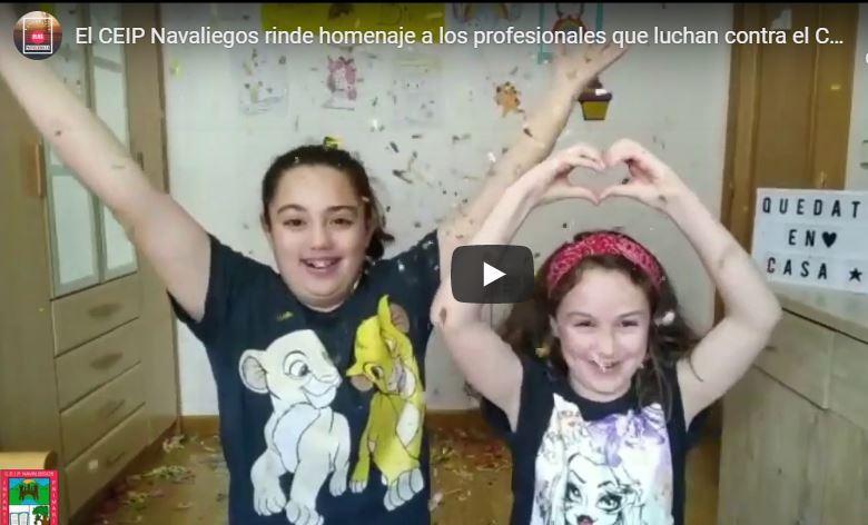'Gracias por cuidarnos con tanto amor' Los alumnos del Colegio Navaliegos publican un vídeo de agradecimiento a los profesionales que luchan contra el coronavirus 1