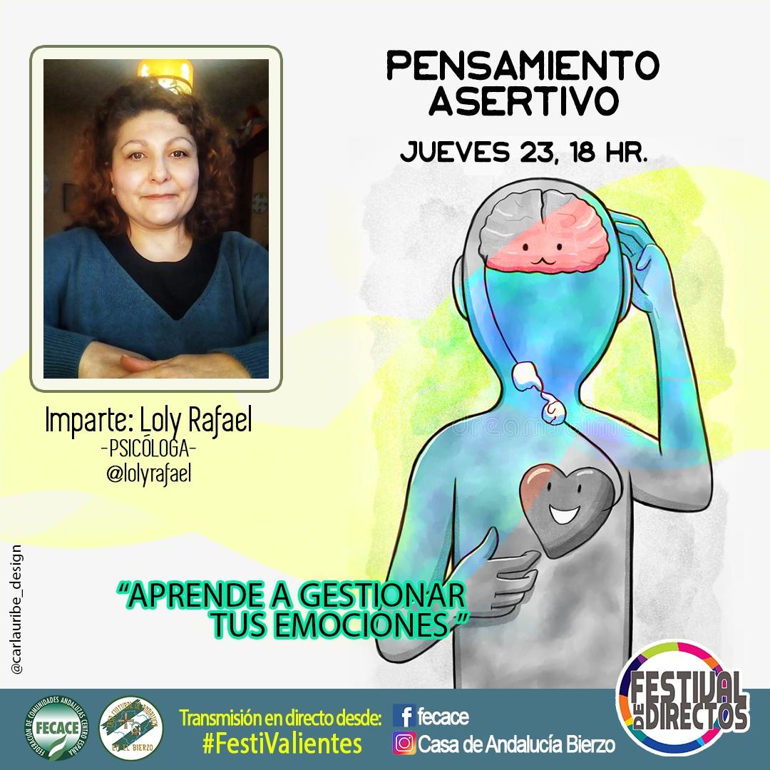 La Casa de Andalucía organiza un taller de pensamiento asertivo con la psicóloga Loly Rafael y de Zumba Flamenca con Helena Sanz 1
