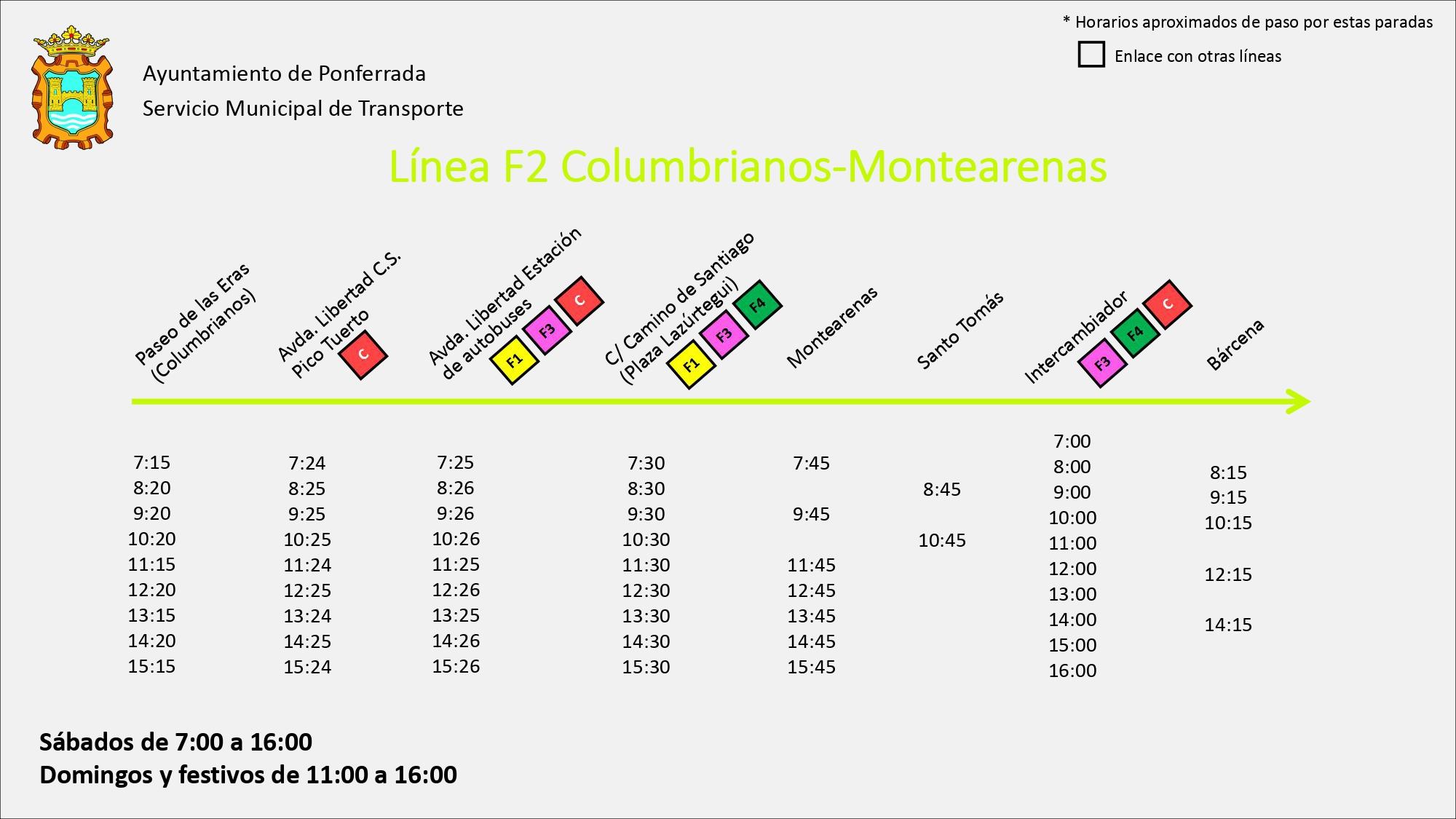 Estos son los nuevos horarios de los autobuses de Ponferrada 12