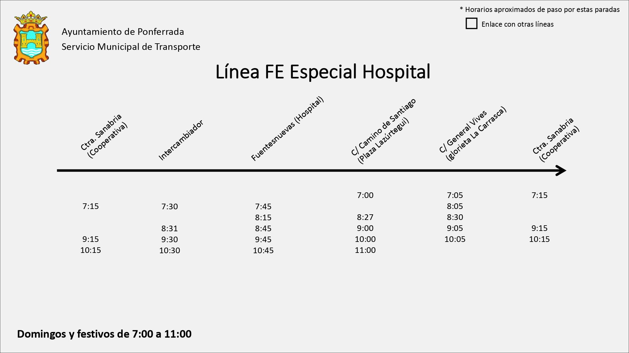 Estos son los nuevos horarios de los autobuses de Ponferrada 14