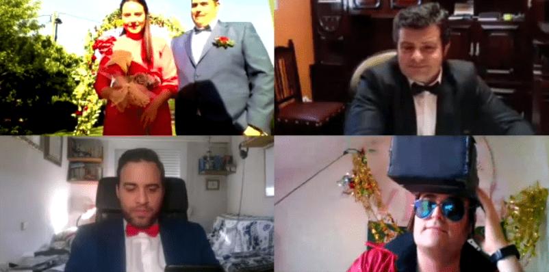 La 'boda virtual' de los bercianos Begoña y Bruno 1