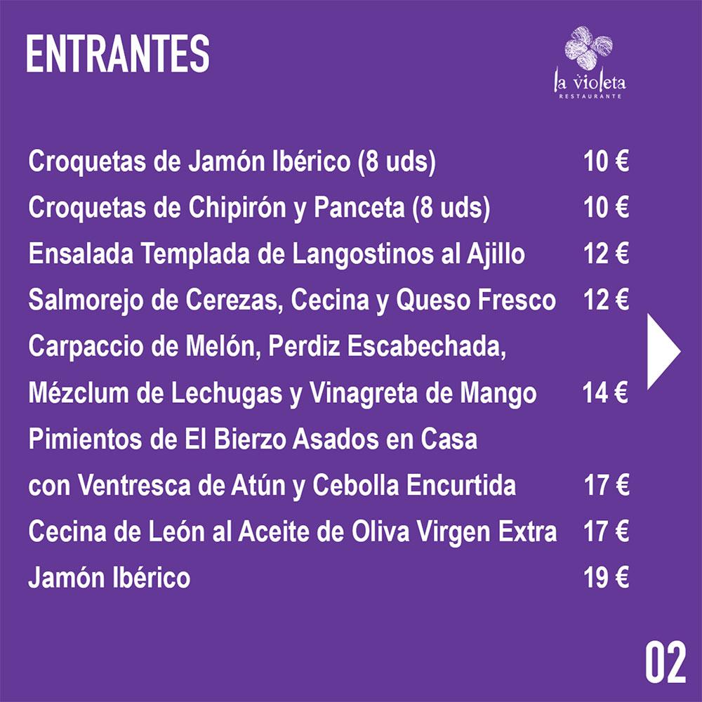 El Restaurante La Violeta estrena carta y dispone de nuevo servicio de comida a domicilio 5