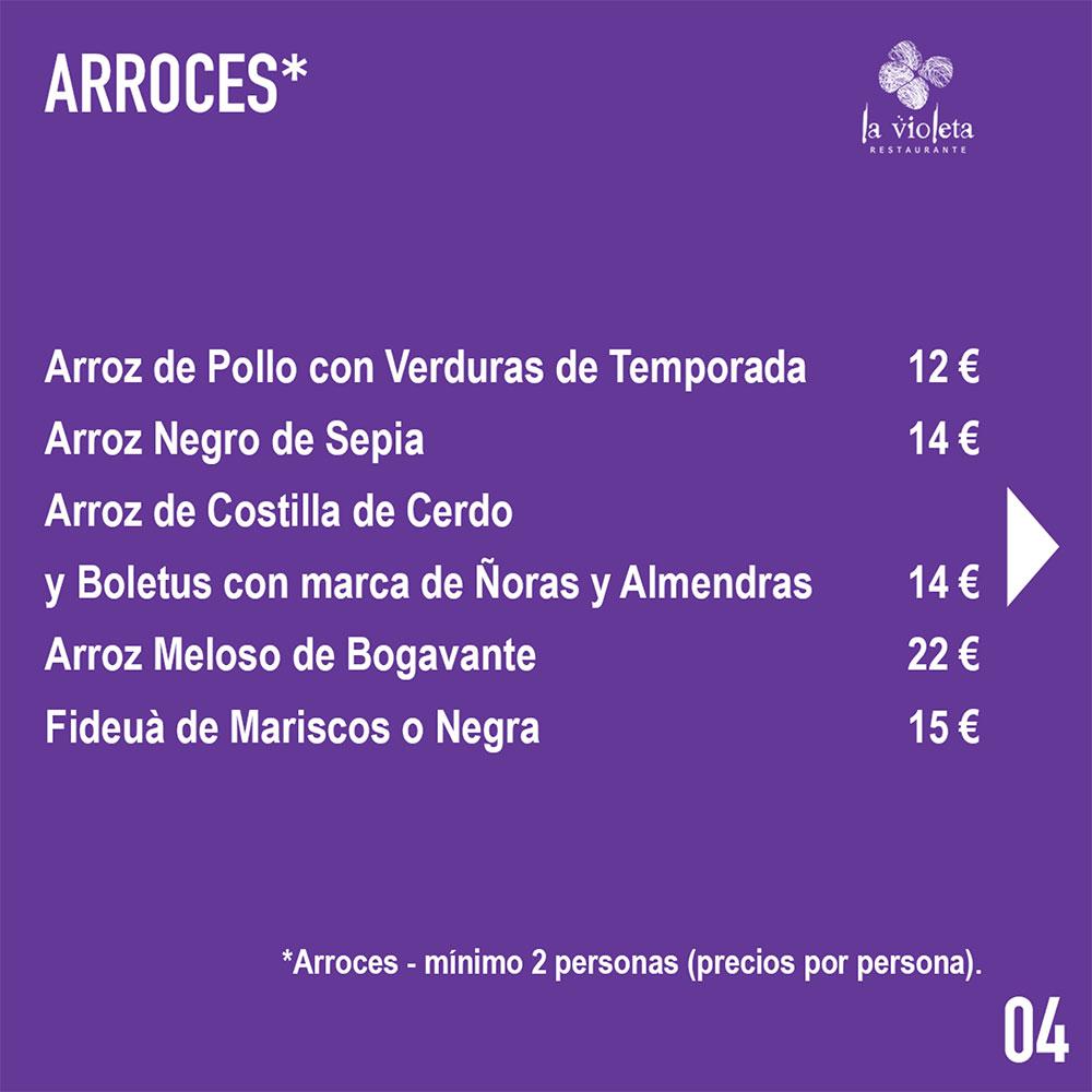 El Restaurante La Violeta estrena carta y dispone de nuevo servicio de comida a domicilio 7
