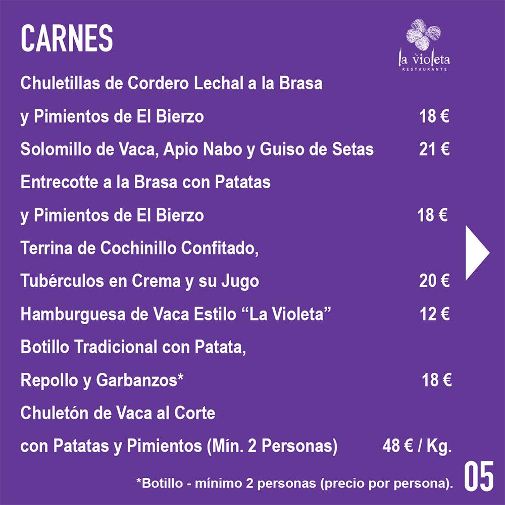 El Restaurante La Violeta estrena carta y dispone de nuevo servicio de comida a domicilio 8