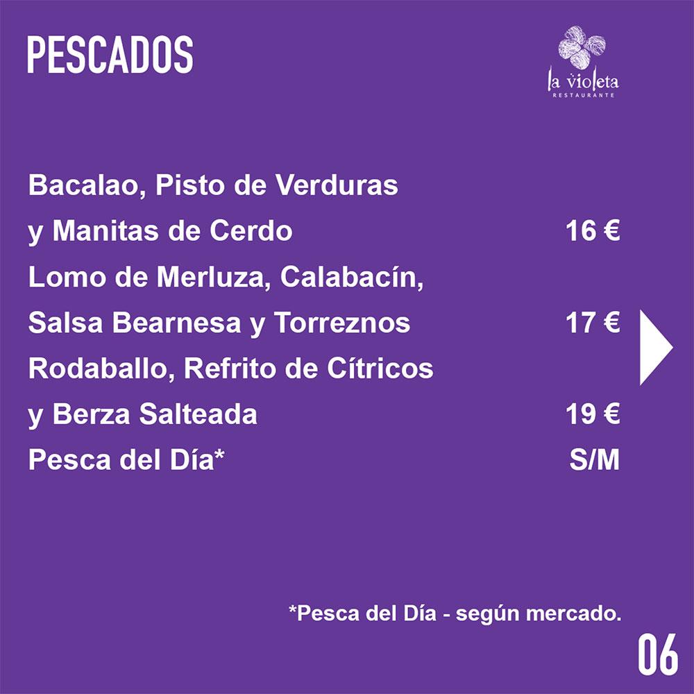 El Restaurante La Violeta estrena carta y dispone de nuevo servicio de comida a domicilio 9