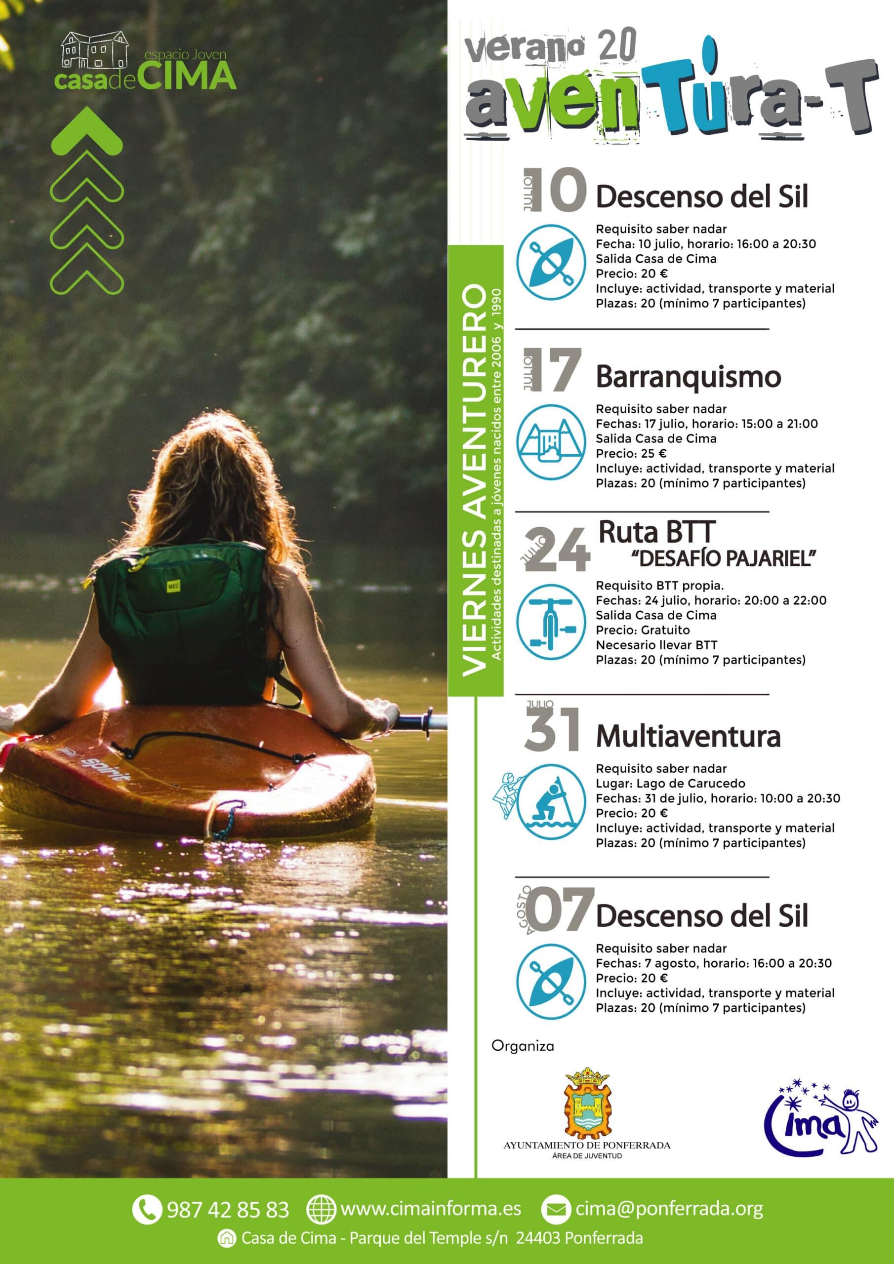 Cima Ponferrada presenta las actividades para el verano 2020 2