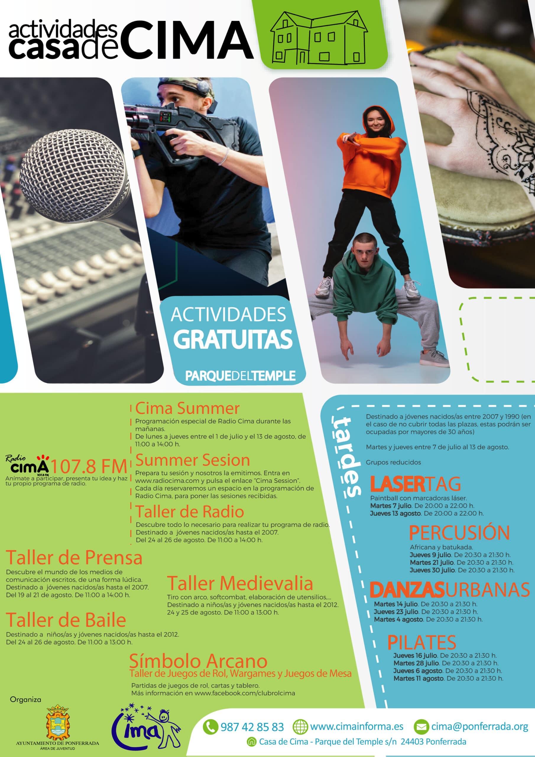 Cima Ponferrada presenta las actividades para el verano 2020 3