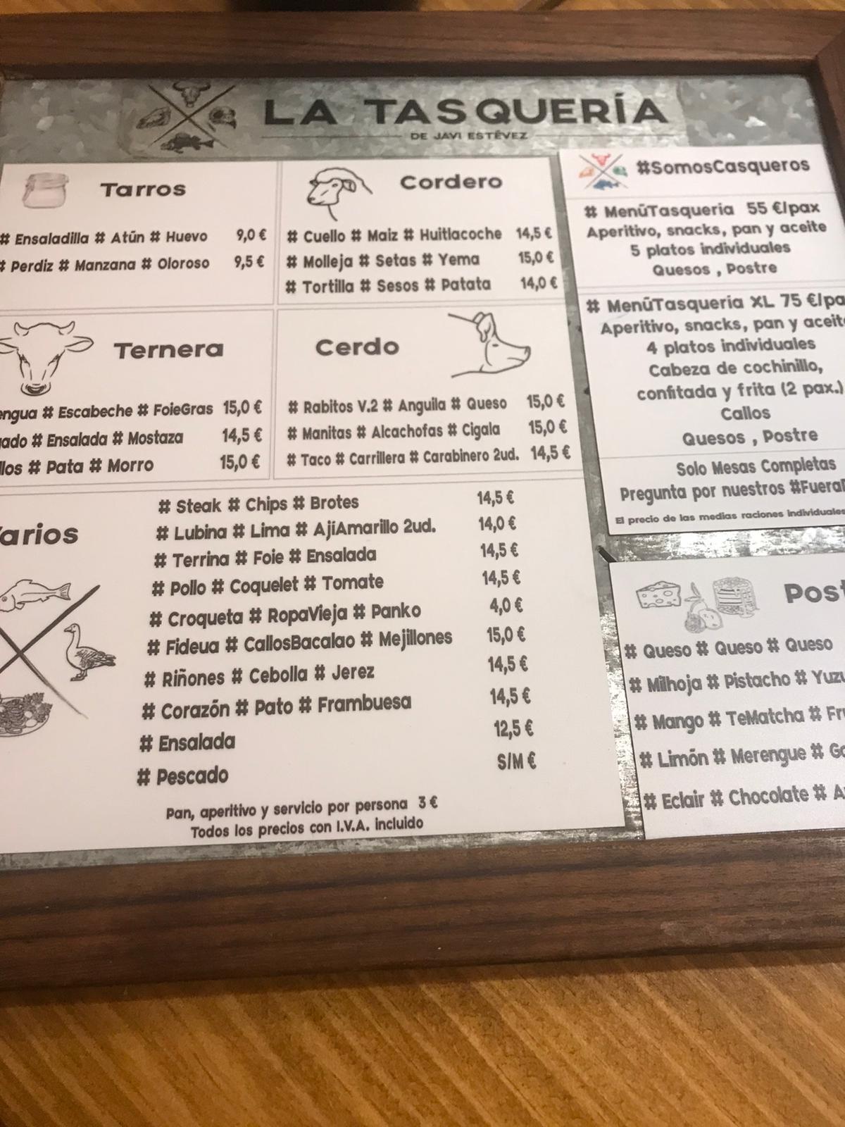 Reseña gastronómica: La Tasquería en Madrid 7