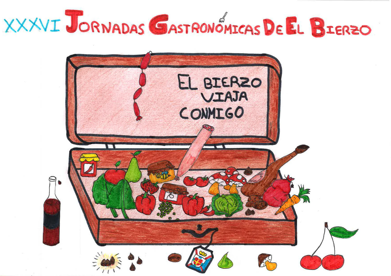 Un dibujo de una alumna del CRA Valle del Boeza será el cartel de las XXXVI Jornadas Gastronómicas de El Bierzo 1