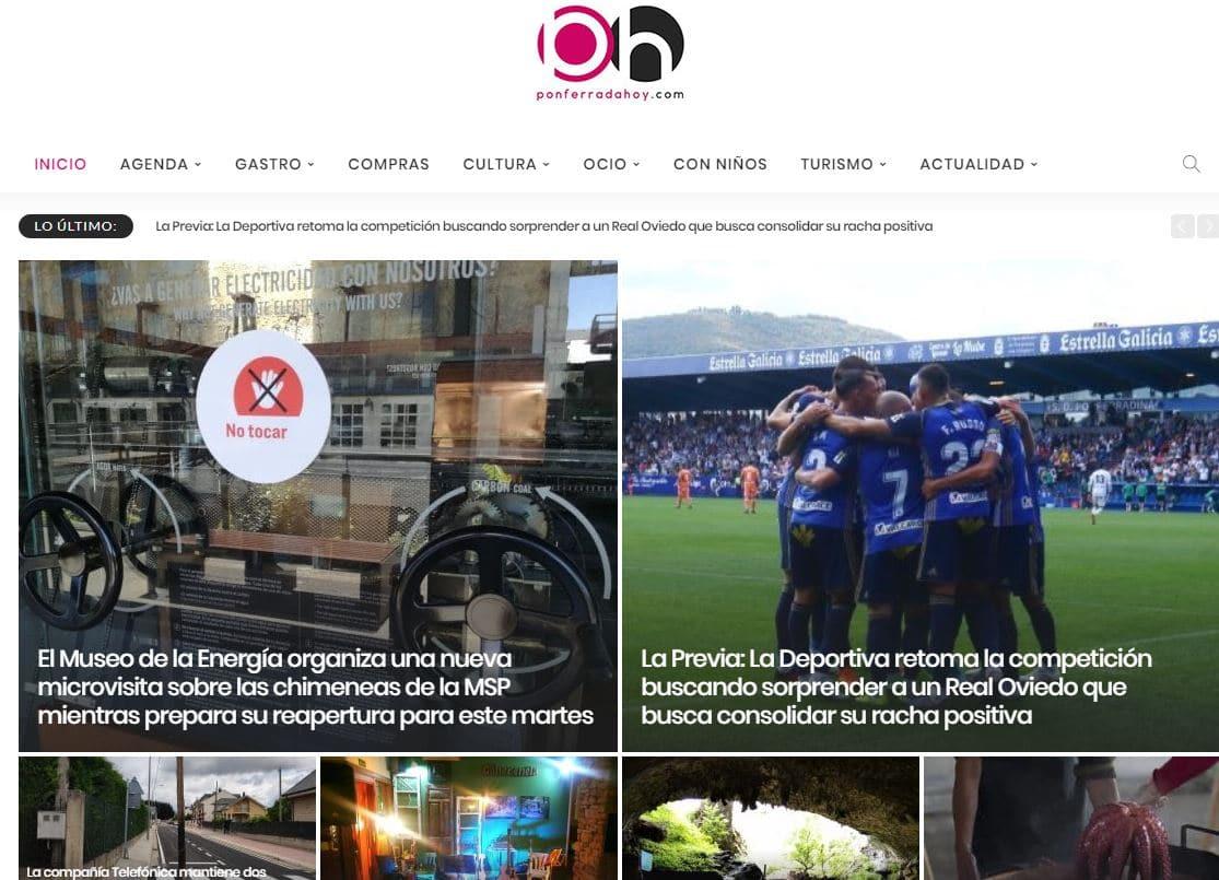 Ponferradahoy sigue liderando en mayo la información de ocio, cultura y entretenimiento en el Bierzo 1