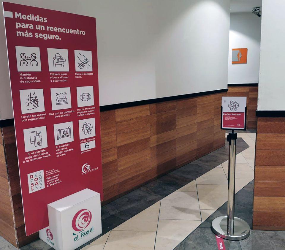 El Centro Comercial el Rosal abre con estrictas medidas de seguridad y control para la seguridad de los clientes y trabajadores 3