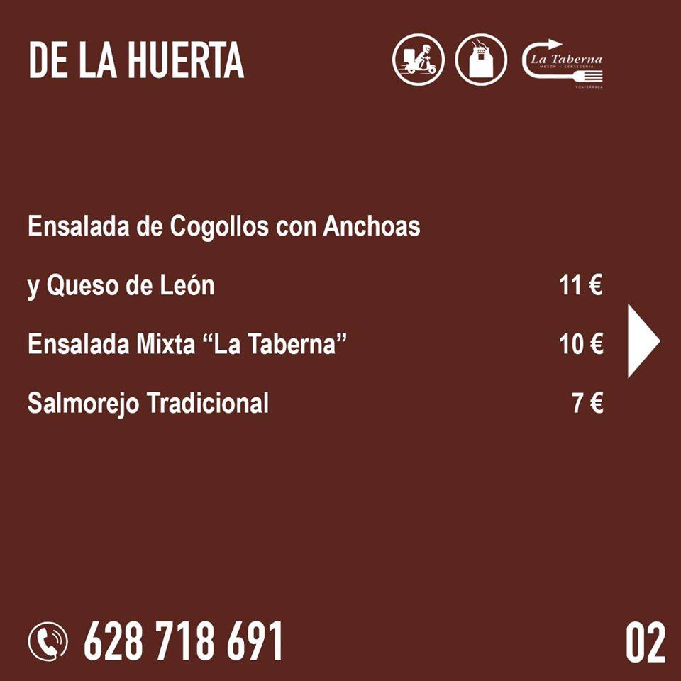 El Restaurante La Taberna se suma a la oferta de comida de calidad para llevar y a domicilio en Ponferrada 4