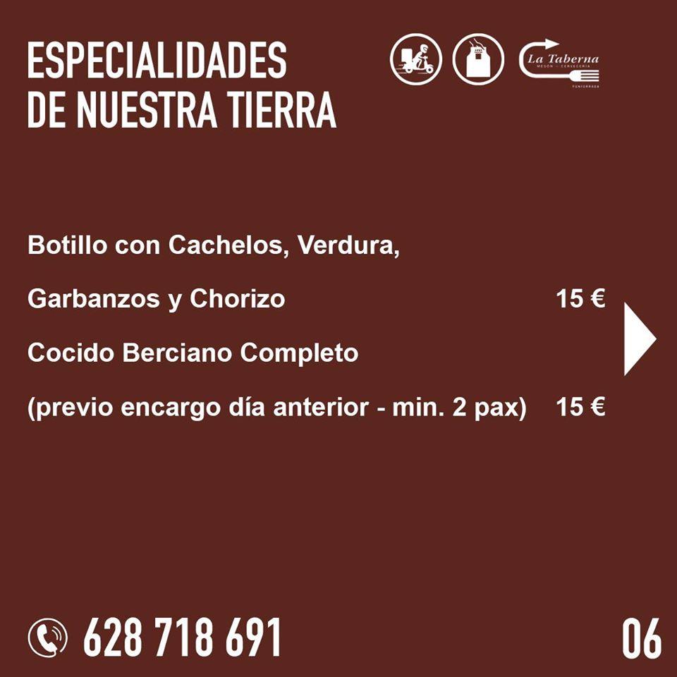 El Restaurante La Taberna se suma a la oferta de comida de calidad para llevar y a domicilio en Ponferrada 8