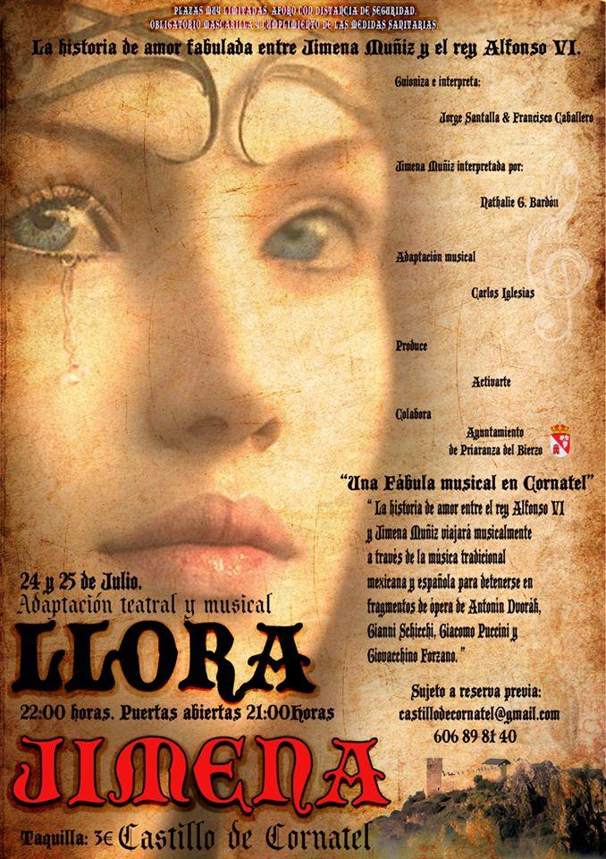 El Castillo de Cornatel escenario este fin de semana de la obra de teatro musical Llora Jimena 1