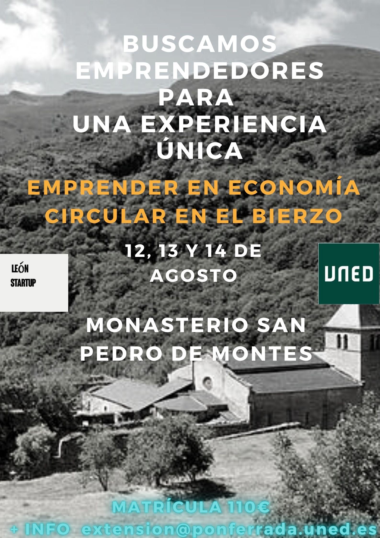 UNED Y León Startup lanzan en agosto un taller para emprender en economía circular en el Bierzo 3