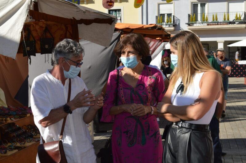 El mercado templario de Ponferrada ya recibe a sus visitantes con medidas sanitarias para los visitantes 9