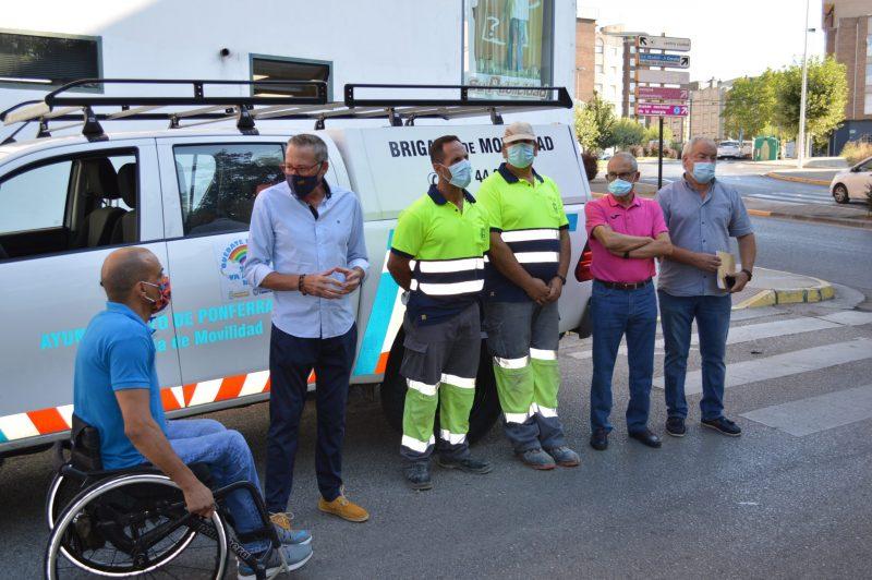 La brigada de movilidad se pone en marcha para mejorar la accesibilidad en diferentes puntos de la ciudad 1