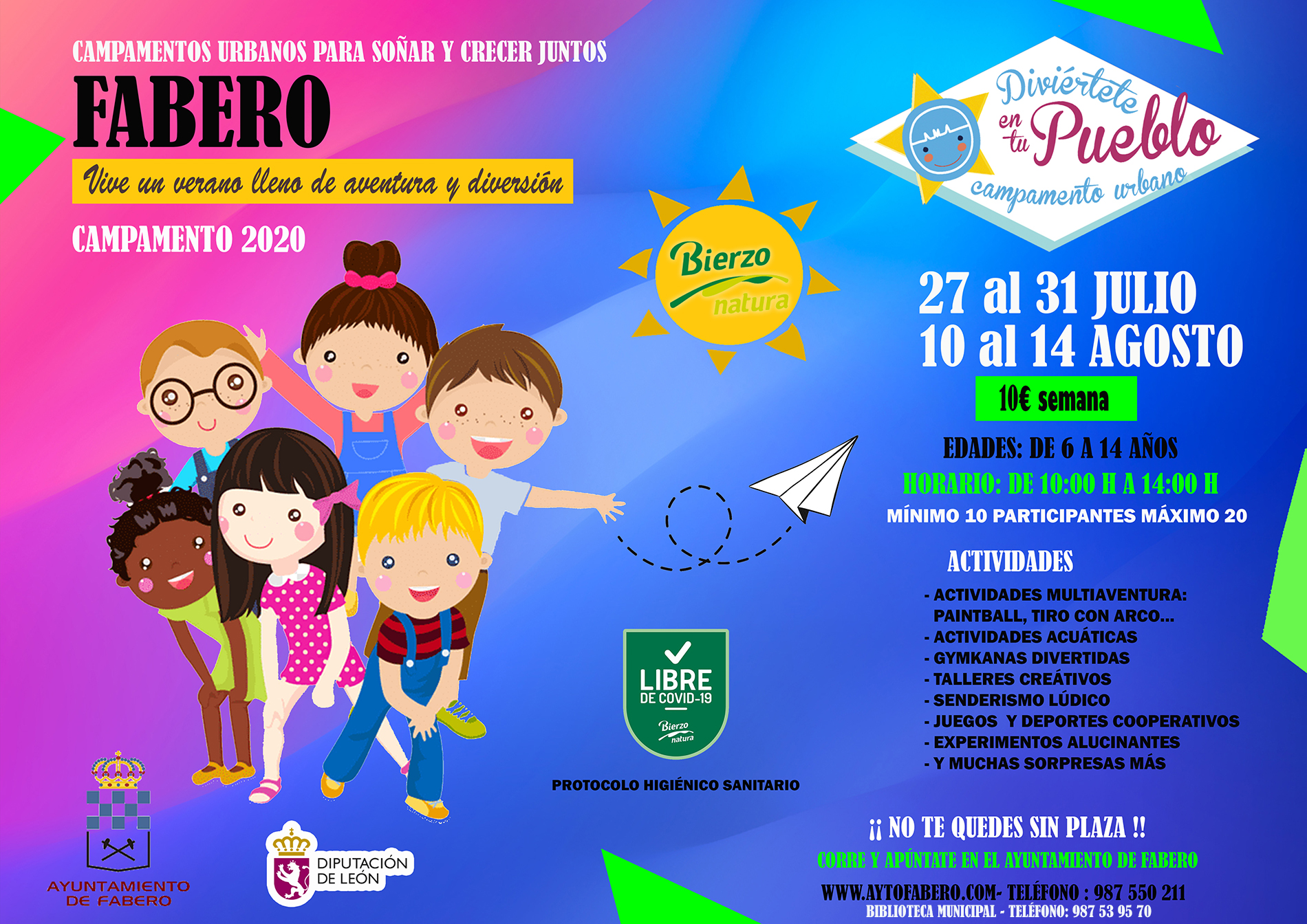 Campamento Urbano para Soñar y Crecer Juntos FABERO 2020 1