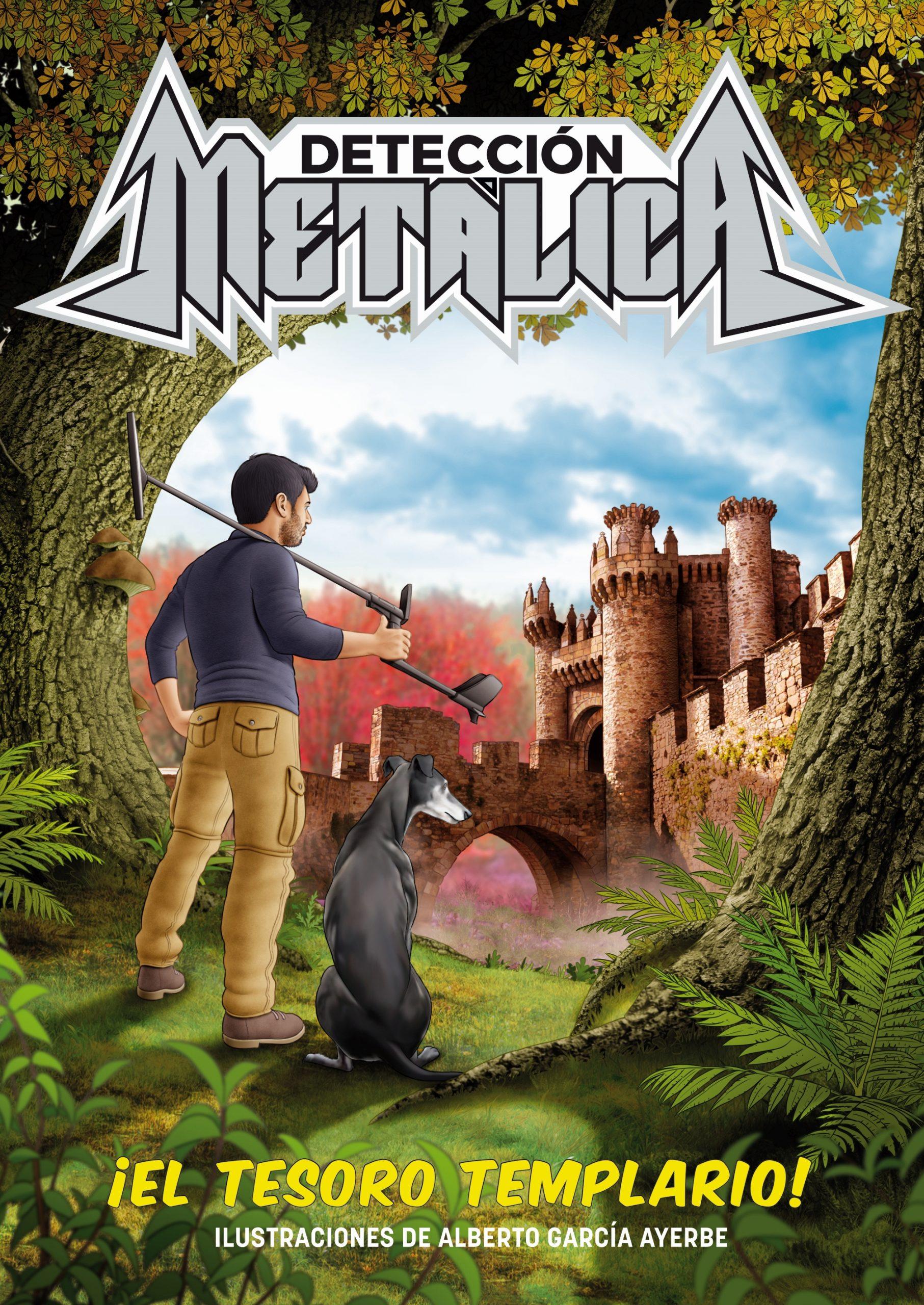 El castillo de Ponferrada portada del libro interactivo 'El tesoro templario' del Youtuber Virgilio García, famoso por su canal 'Detección Metálica' que siguen casi tres millones de personas 1