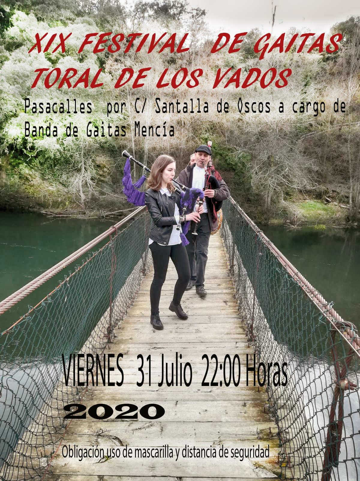 El viernes se celebra el XIX Festival de gaitas de Toral de los Vados con un pasacalles al aire libre 1