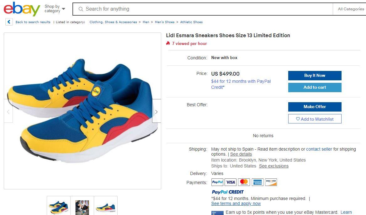 Así son las zapatillas que Lidl venderá en España por 12,99€ y por las que se han pagado hasta 1000€ en Ebay 3
