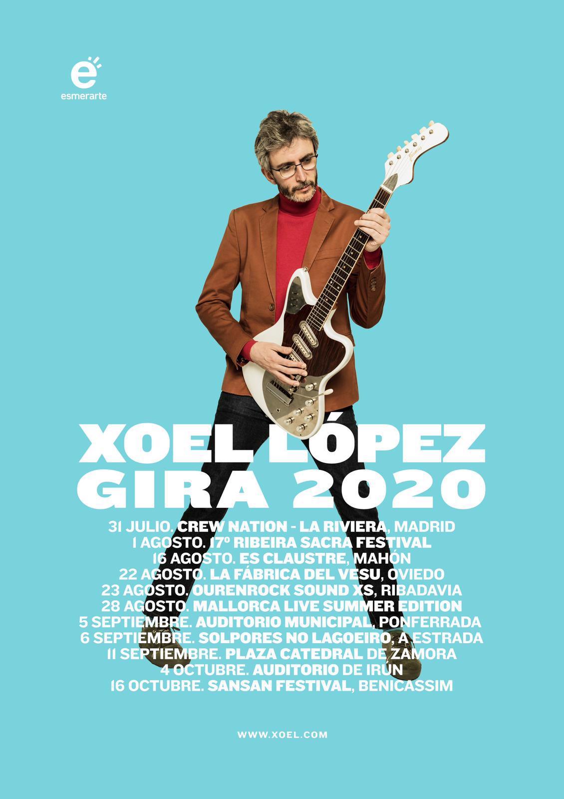 Xoel López actuará el 5 de septiembre en el Auditorio Municipal de Ponferrada 1