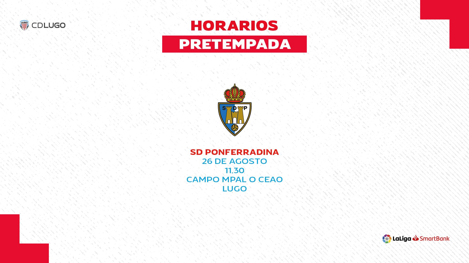 La Ponferradina jugará un amistoso el miércoles con el CD Lugo en el municipal de O Ceao 1