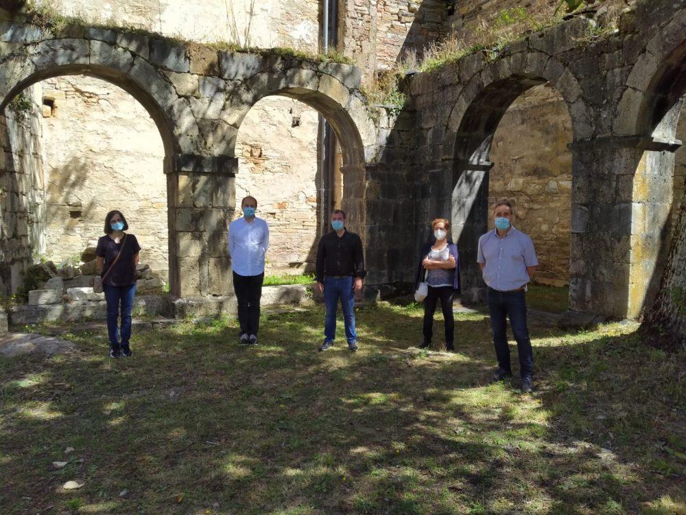 Se ponen en marcha las obras de consolidación de la arquería del Monasterio de Montes de Valdueza 1