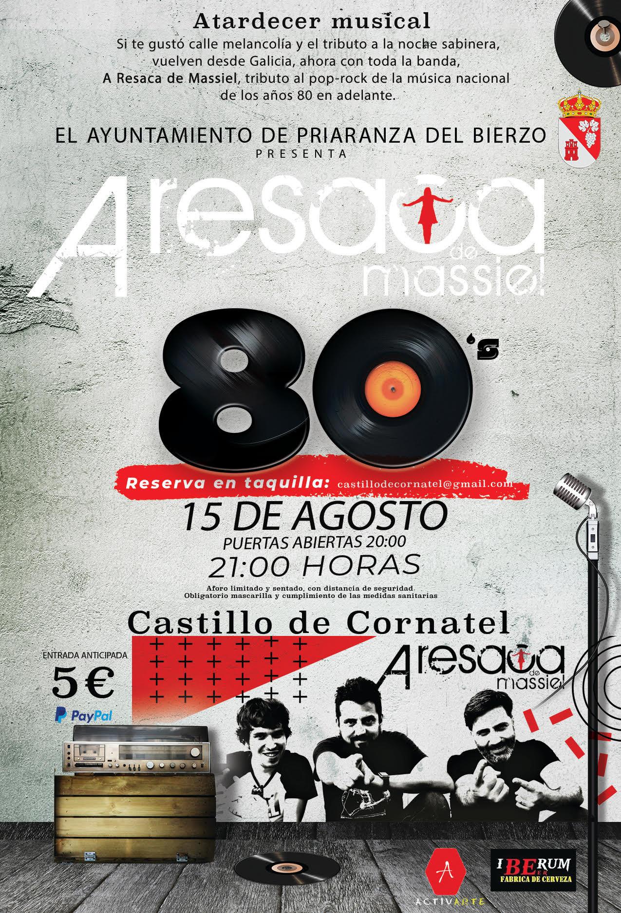 Humor y nostalgia en el concierto del sábado en el Castillo de Cornatel con 'A resaca de Massiel' 2