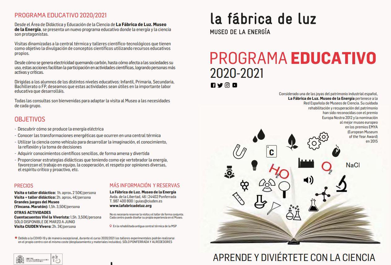 La Fábrica de Luz presenta su programa de actividades 20/21 2