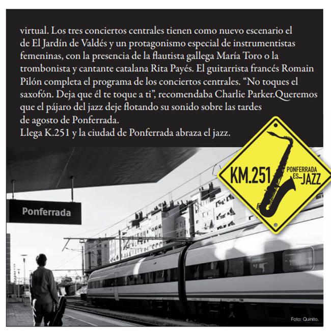 El festival 'KM.251 Ponferrada es Jazz' llega a la su quinta edición 5