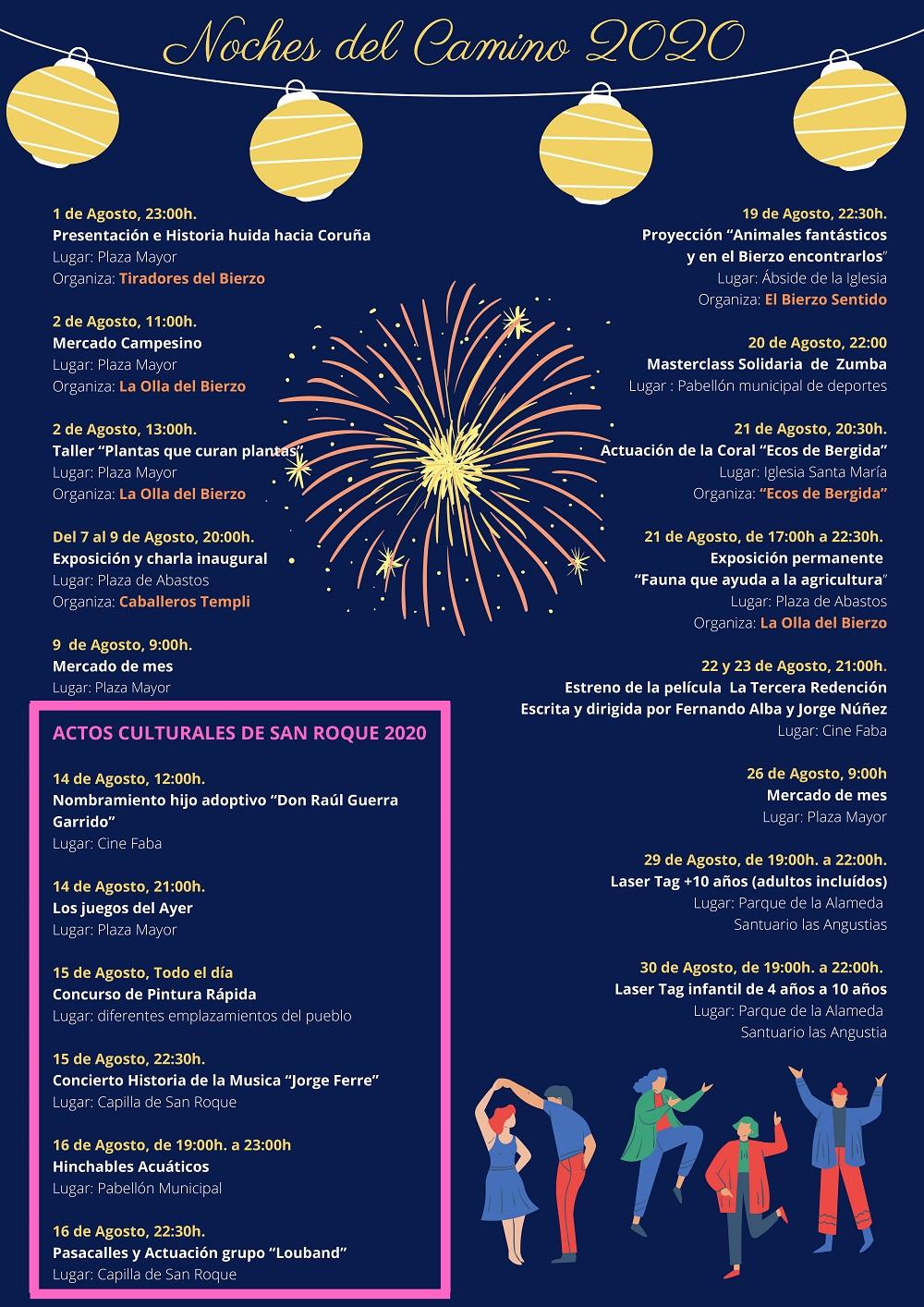 Cacabelos celebra las noches del Camino 2020 que incluyen cine, charlas o exposiciones a lo largo de agosto y septiembre 3