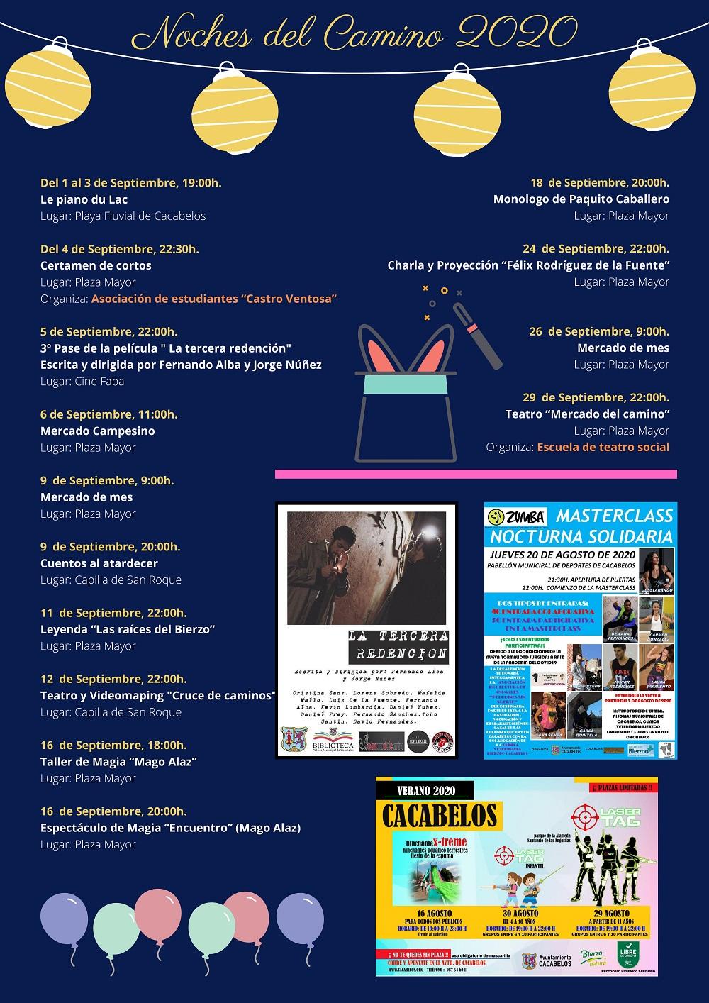 Cacabelos celebra las noches del Camino 2020 que incluyen cine, charlas o exposiciones a lo largo de agosto y septiembre 4