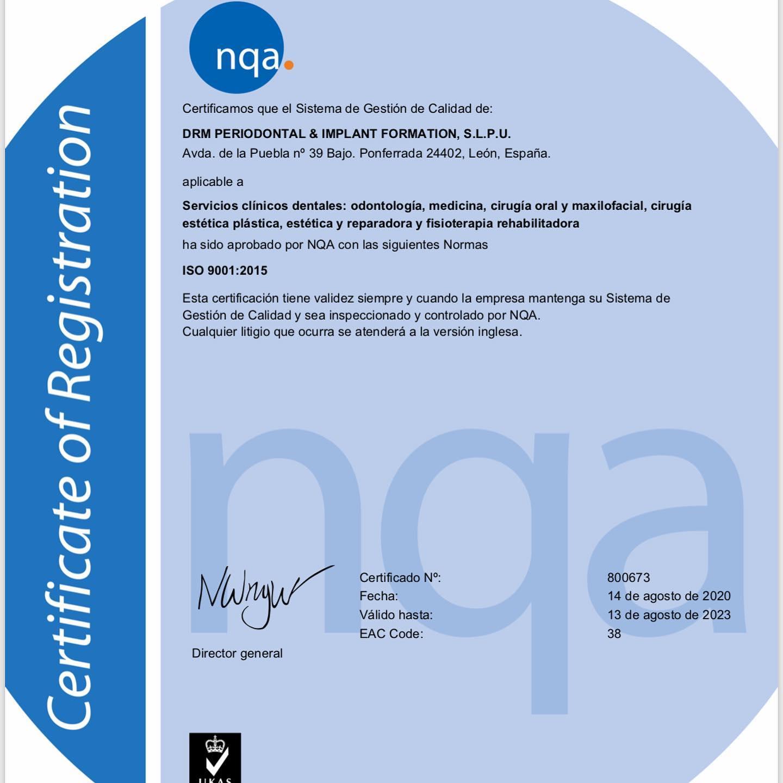 La clínica La Puebla 39 consigue las exigentes certificaciones de calidad ISO:9001 y UNE:179001 2