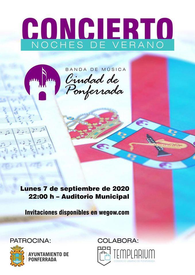 La Banda de Música Ciudad de Ponferrada actúa hoy lunes en el Auditorio con entrada gratuita mediante invitación 1
