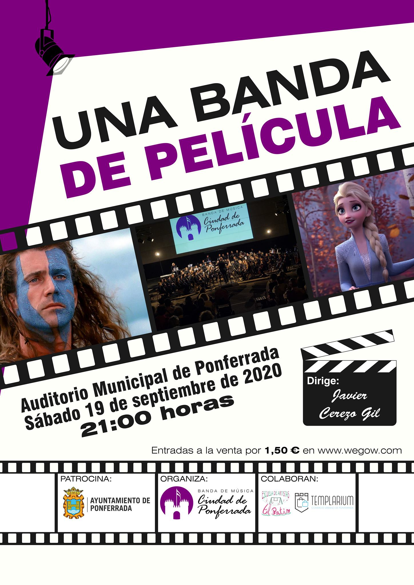 La Banda de Música Ciudad de Ponferrada cerrará el verano con 'Una banda de Película' en el Auditorio Municipal 2