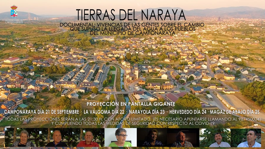El Ayuntamiento de Camponaraya aplaza la proyección del documental 'Tierras del Naraya' por las medidas sanitarias 1