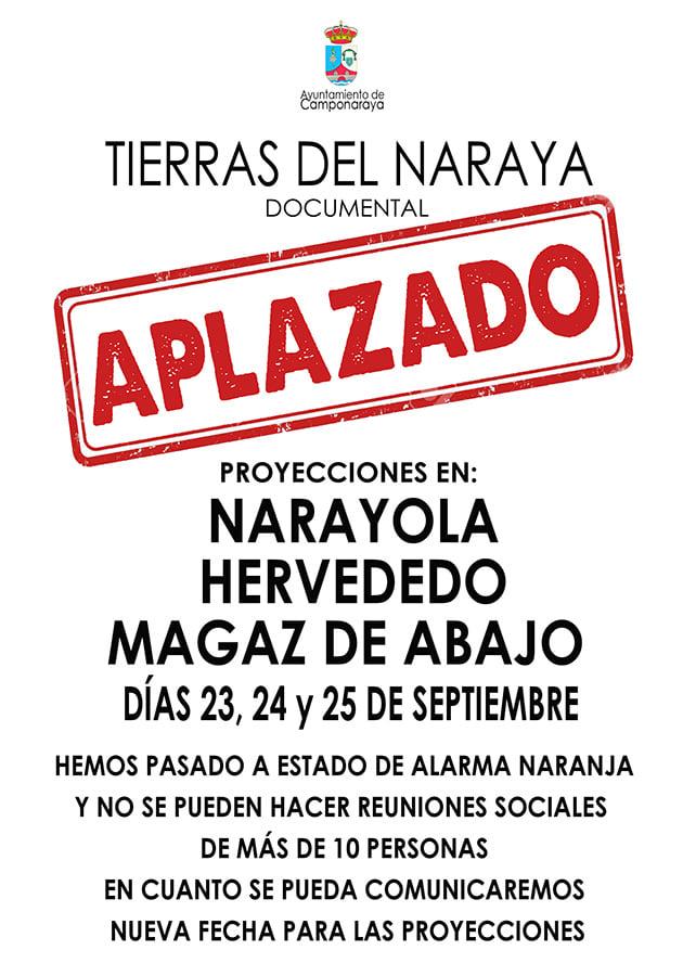 El Ayuntamiento de Camponaraya aplaza la proyección del documental 'Tierras del Naraya' por las medidas sanitarias 2