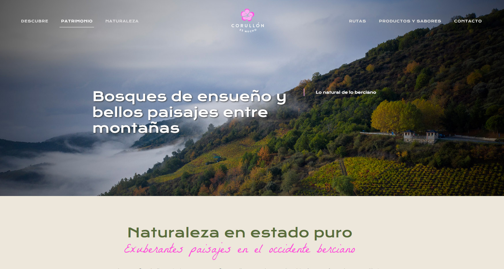Corullón estrena su nueva web de turismo 2