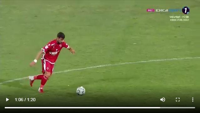VÍDEO / El berciano Borja Valle se estrena en la liga Rumana con un golazo desde el campo contrario 1