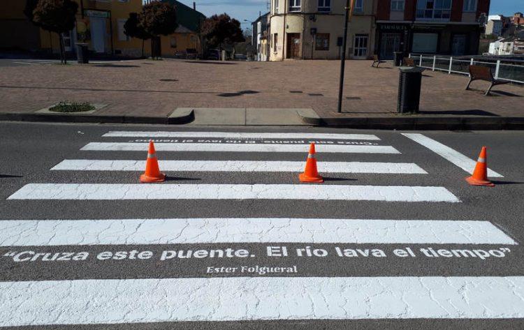 Ponferrada finaliza el proyecto de poetización de los pasos de peatones 1