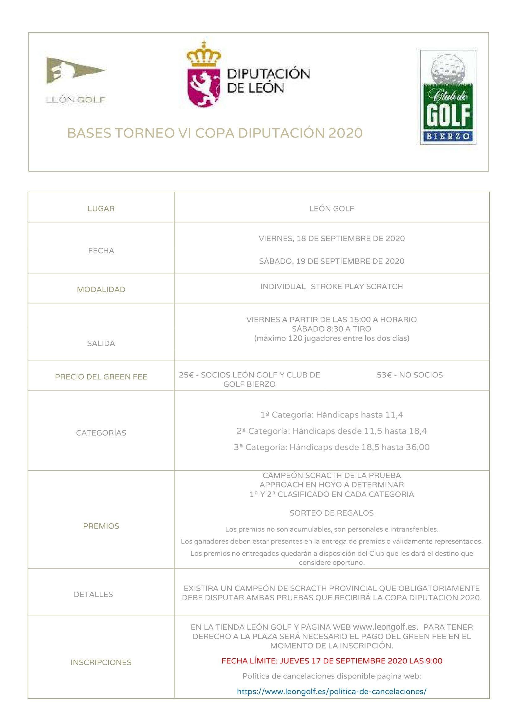 Arranca en el Club de Golf Bierzo la VI Copa Diputacion 3