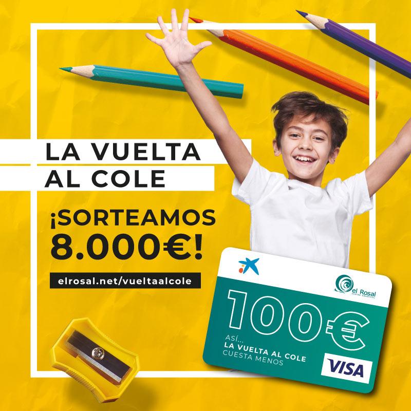 El Centro Comercial El Rosal sortea 8.000€ durante la campaña de vuelta al cole 1