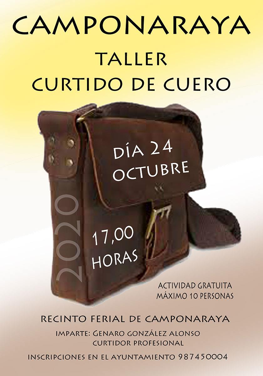 El Ayuntamiento de Camponaraya organiza un taller de curtido de cuero 2