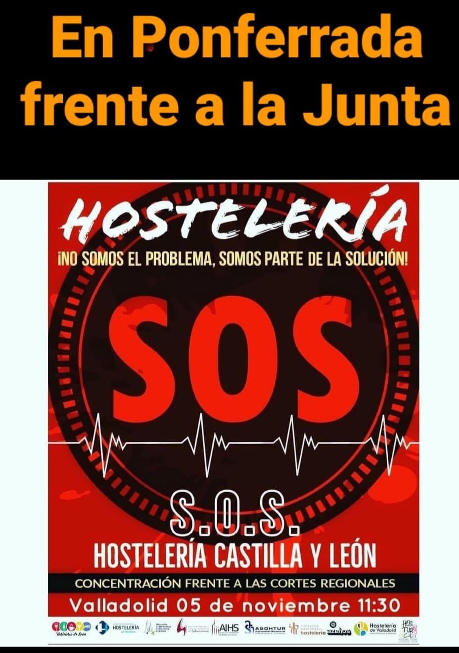 La hostelería berciana lanza un S.O.S. con una concentración el próximo jueves ante la Delegación de la Junta de Castilla y León en Ponferrada 2